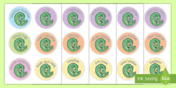 Taniwha Job Labels - Back To School, 2018, New Zealand, Display, Signs, Labels, Drawer, jobs, taniwha
