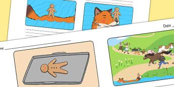 The Gingerbread Man Storyboard Template - storyboard, gingerbread man