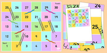 Snakes and Ladders Bee-Bot Mat - snake, ladder, game, play, activity, bee-bot, bee bot, beebot, measure, ssm, direction, position, positional, maths