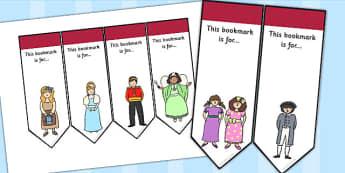 Cinderella Editable Bookmarks - cinderella, bookmarks, editable