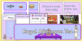 Royal Afternoon Tea Role Play Pack - royal, afternoon tea, role play, pack
