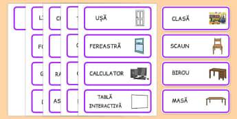Obiectele din clasă - Cartonașe