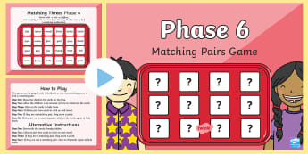 Matching Game Phase 6 Letters and Sounds Memory PowerPoint - suffixes, letters and sounds resources, free letters and sounds resources, phonics, phonics resource