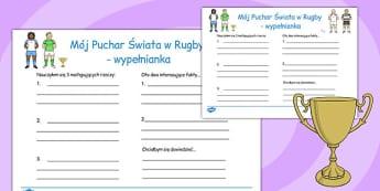 Wypełnianka Puchar świata w rugby po polsku - do pobrania, Polish
