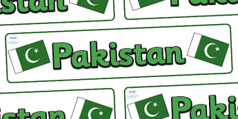 Pakistan Display Banner - Pakistan, Olympics, Olympic Games, sports, Olympic, London, 2012, display, banner, sign, poster, activity, Olympic torch, flag, countries, medal, Olympic Rings, mascots, flame, compete, events, tennis, athlete, swimming