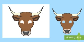 Ox Role-Play Mask - KS1, Key Stage One, Classroom, Groups, Learning, Fun, Character, Imagination