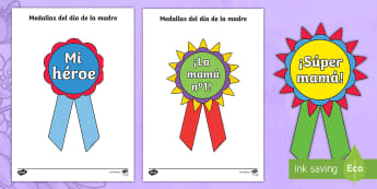 Mother's Day Printable Badges - Spanish - Spanish, KS2, vocabulary, mother's, day, printable, badges, gift, present, colouring, Mother's Day