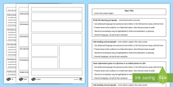 KS2 Non-Chronological Report Differentiated Writing Guides and  Activity Sheets - non-fiction, writing templates, information text, writing in paragraphs, organisational features.