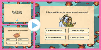 Diwali Quiz PowerPoint - hinduism, hindu, celebration, religion