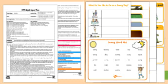 EYFS What Shall We Do on a Sunny Day? Count and Record Adult Input Plan and Resource Pack - EYFS, Early Years Planning, Adult Led, Adult Input, Weather, sun, sunny, mathematics, number, data c
