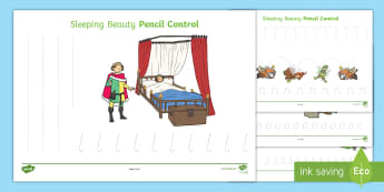 Sleeping Beauty Pencil Control Worksheets - sleeping beauty, pencil control worksheets, sleeping beauty pencil control, sleeping beauty worksheets