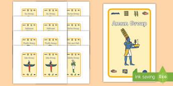 Class Group Signs Ancient Egyptian Gods IKEA Tolsby Frame - Ancient Egyptian, history, group signs, group labels, teaching groups, class group, class groups, Eg