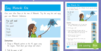 Matariki Kite Easy Craft Instructions - New Zealand Matariki, Matariki, New Year, Maori New Year, Maori, Celebration, Festival