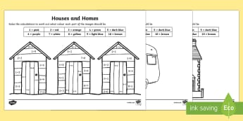 Houses and Homes Addition to 10 Colour by Number