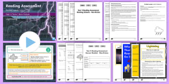 Year 5 Term 1 Non-Fiction Reading Assessment Guided Lesson Teaching Pack - Year 3, Year 4 & Year 5 Reading Assessment Guided Lesson PowerPoints, KS2, reading, read, assessment