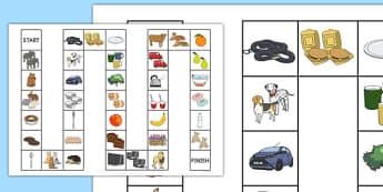 Plural or Singular Board Game - SLI, specific language impairment, plurals, grammar, EAL, language disorder, Language delay