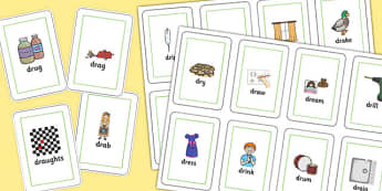 DR Playing Cards -speech sounds, phonology, articulation, speech therapy, cluster reduction, clusters, blends