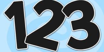 A4 Black Alphabet Display Numbers-display numbers, A4, black numbers, numbers for display, numbers, themed numbers, coloured numbers, numbers, display