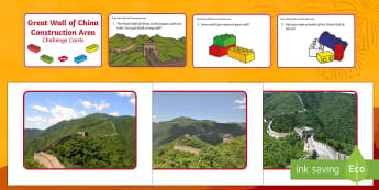 The Great Wall of China Construction Area Resource Pack - chinese new year, china, great wall of china, EYFS, early years, Understanding the world, constructi