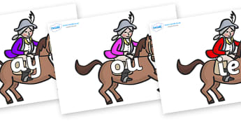 Phase 5 Phonemes on King's Horses - Phonemes, phoneme, Phase 5, Phase five, Foundation, Literacy, Letters and Sounds, DfES, display