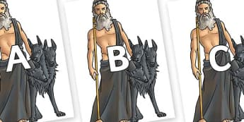 A-Z Alphabet on Hades - A-Z, A4, display, Alphabet frieze, Display letters, Letter posters, A-Z letters, Alphabet flashcards