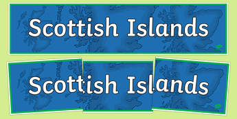 Scottish Islands Display Banner-Scottish
