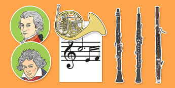 Classical Period Music Display Cut Outs - classical period, music