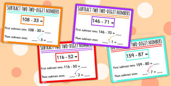 Subtract 2-Digit Numbers from 3-Digit Numbers Using Place Value Stage 6 - place value, stage 6, advanced additive, nz maths, numeracy project