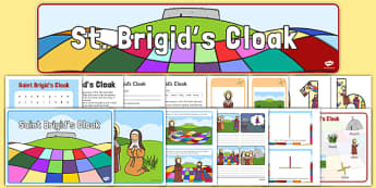 Junior/Senior Infants St Brigid's Day Resource Pack  - Saint Brigid, saint brigid's day, catholic, church, cloak, Ireland