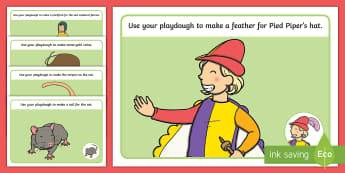 The Pied Piper Playdough Mats - playdough, mats, pied piper