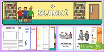 Respect Lesson Teaching Pack - respect, respect pack, respect lesson, respect lesson teaching pack
