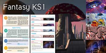 Imagine Fantasy KS1 Resource Pack - Fantasy, Airship, UFO, Bed, Fractal, Quest