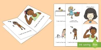 Keeping Clean Emergent Reader - Keeping clean, personal hygiene, hygiene, emergent reader, keeping clean emergent reader