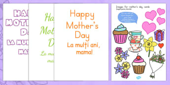 Mother's Day Design a Mother's Day Card Romanian Translation - romanian, mothers day cards, cards