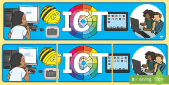 ICT  Display Banner - EYFS, Early Years, ICT, Computer, Computing, Understanding the World, Technology, tablet, interactiv
