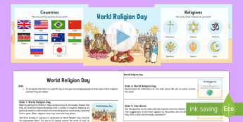 World Religion Day Assembly Presentation and Script - world religion day assembly, presentation, crew, religion, respect