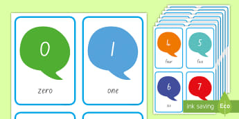 Numbers 0 to 30 Flashcards - New Zealand Maths, nz, counting, ordering, number, thirty, zero