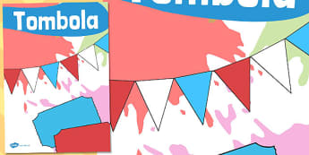Tombola Poster - tombola, poster, display, raffle, tickets, fair