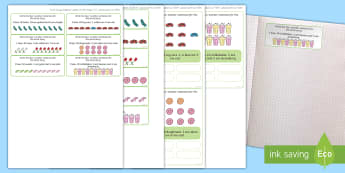 Number Bonds to 10 Stories Themed Maths Challenge Sticky Avery Labels - Maths, Problems, Word Problems, KS1, Key Stage One, Scenario, Challenges, Stickers