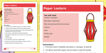 Dragons in the City Paper Lantern Craft Instructions - Twinkl Originals, Fiction, Chinese New Year, EYFS, KS1, Creative, lanterns, chinese lantern