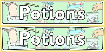 Potions Themed Banner - displays, banners, Themed