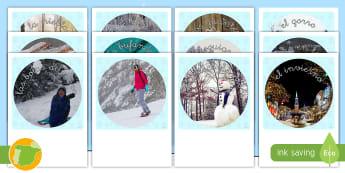 Fotos de exposición para recortar: El invierno - invernal, winter, primaria, educación infantil, profesores, alumnos, muñeco de nieve, guantes, buf