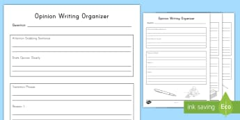 Opinion Writing Activity Sheet - W3.1, mind map, Graphic Organizer, first draft, planning, informational text, work on writing, write