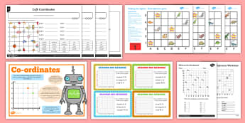 Year 4 Cartesian Plane Activity Pack - Coordinates, first quadrant, grids, y4, Cartesian Plane