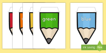 Colors on a Pencil Display Bunting  - color, display, bunting, decor,