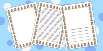 Dog Page Borders - dog, page borders, borders, writing, templates