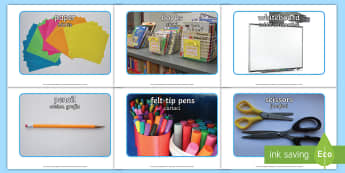 School Objects Photo Photo Pack English/Romanian - School Objects Photo Pack - school objects, photo pack, photo, pack, ojects, eal,Romanian-translatio