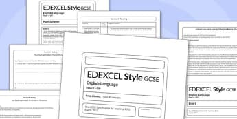 GCSE English Language Exam Paper 1 EDEXCEL - gcse, english, language, exam, paper, edexcel