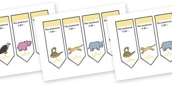 Safari Bookmarks - safari, on safari, safari themed bookmarks, safari reading bookmarks, safari animal bookmarks, safari animals, on safari bookmarks
