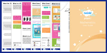 PlanIt Maths User Guide - planit, maths, user guide, user, guide, help, units, lessons, packs